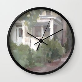 House by the Canal Wall Clock