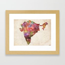 India map landscape Framed Art Print