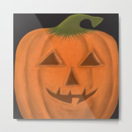 The Textured Pumpkin Metal Print