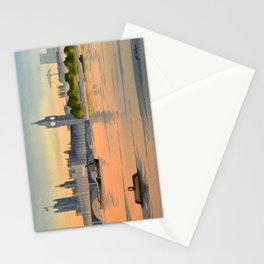 Westminster And Big Ben From The River Thames London Stationery Cards