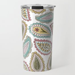 paisley pattern in pale colors Travel Mug