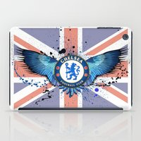 chelsea iPad Cases featuring Chelsea FC by Future Illustrations- Artwork by Julie C