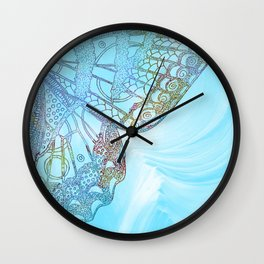 Colorful Abstract Butterfly Design Wall Clock