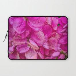 Wet Pink Flowers Laptop Sleeve