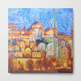 The Cathedrals of the Moscow Kremlin Metal Print
