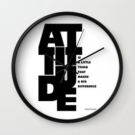 Lab No. 4 - Life Inspirational Quotes Of Attitude Inspirational Quotes Poster Wall Clock