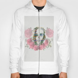 girl and flowers color Hoody