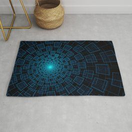 Circular Abstract Fractal Pattern Rug