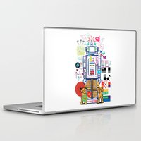 coldplay Laptop & iPad Skins featuring we live in a beautiful world by Giulia De grazi