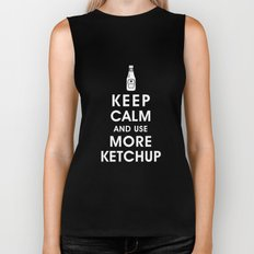 Keep Calm and Use Ketchup Biker Tank