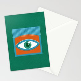 One Look Is Enough - green version Stationery Cards