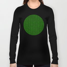 Binary numbers pattern in green Long Sleeve T-shirt