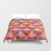 hearts Duvet Covers featuring Hearts by LebensARTdesign