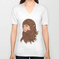 teen wolf V-neck T-shirts featuring Teen Wolf by Joseph Botcherby