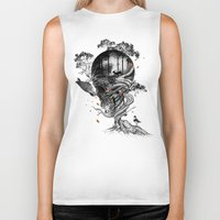 lost Biker Tanks featuring Lost Translation by nicebleed