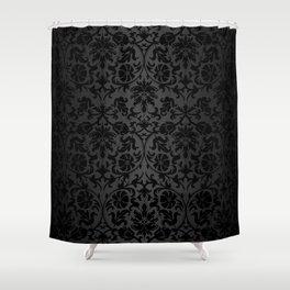 Black Damask Pattern Design Shower Curtain