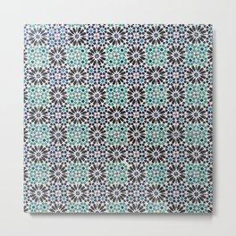 Portuguese Tile Pattern Metal Print