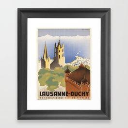 Vintage poster - Switzerland Framed Art Print