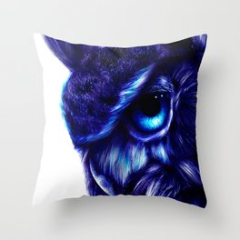 Crazy Owl By LegacyArt86 Throw Pillow