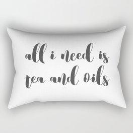 Tea and Oils Rectangular Pillow