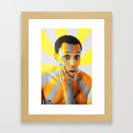 The Real Star Busrt Framed Art Print
