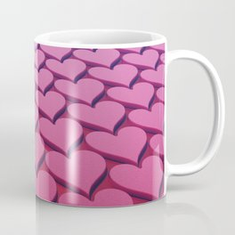 Textured 3D Heart Pattern Coffee Mug