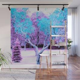 Turquoise Lavender Fantasy Landscape Wall Mural