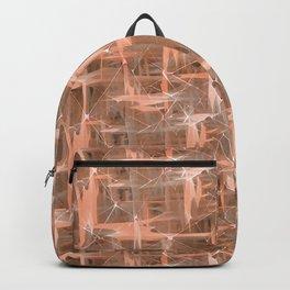 Coral geometric pattern. Backpack
