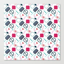 Contraception Pattern Canvas Print