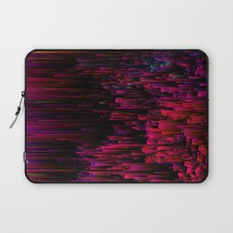 Speeding Neon - Abstract Glitchy Pixel Art Laptop Sleeve