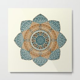 Hena Flower Metal Print