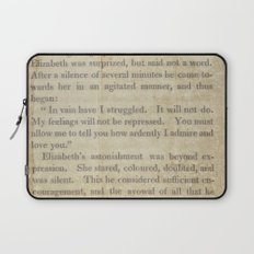 Pride and Prejudice  Vintage Mr. Darcy Proposal by Jane Austen   Laptop Sleeve
