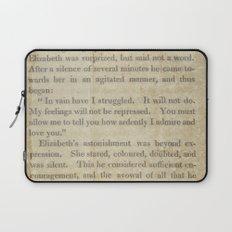 Pride and Prejudice  Vintage Mr. Darcy Proposal by Jane Austen   Laptop Sleeve