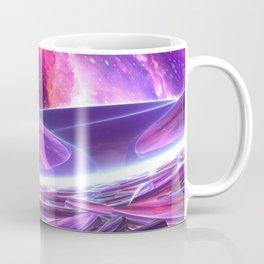 Purple Nebula Space Beams Coffee Mug