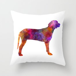 Serbian Hound in watercolor Throw Pillow