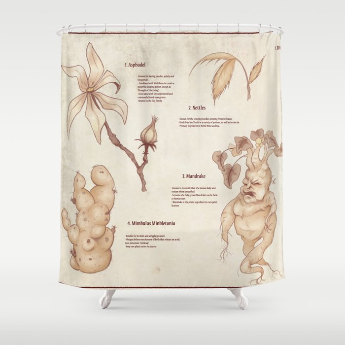 Variety of Magical Plants Shower Curtain
