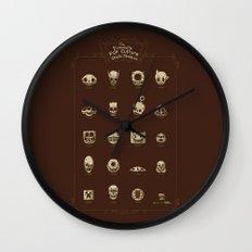 The Exquisite Pop Culture Skulls Museum Wall Clock