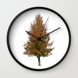pear tree on white Wall Clock
