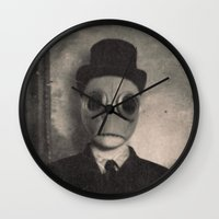 gentleman Wall Clocks featuring Gentleman by nihilnihilnihil