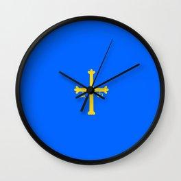 flag of asturias Wall Clock