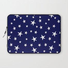 Stars - White on Navy Blue Laptop Sleeve