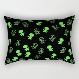 Aliens-Green Rectangular Pillow