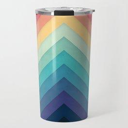 Retro Chevrons 002 Travel Mug