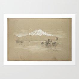 Mount Chimborazo, Eduador , Frederic Edwin Church (1826–1900) Art Print