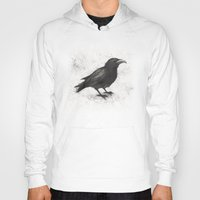 crow Hoodies featuring Crow by Puddingshades