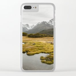 Alpine Marsh Clear iPhone Case