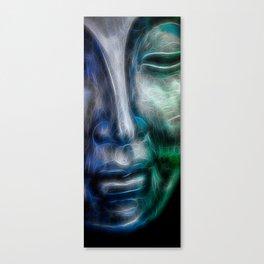 Face bluegreen Canvas Print