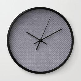 Pantone Lilac Gray Small Scallop, Wave Pattern Wall Clock
