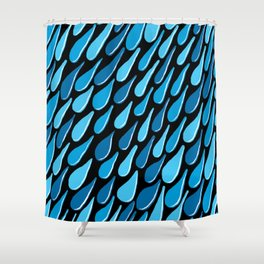 monochromatic blue aqua turquoise navy Shower Curtain