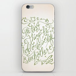 'The Best thing to hold onto in Life is Each Other' ~ Audrey Hepburn iPhone Skin